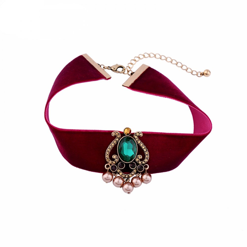 #beautiful #shopping Luxury Red Velvet Choker Necklace