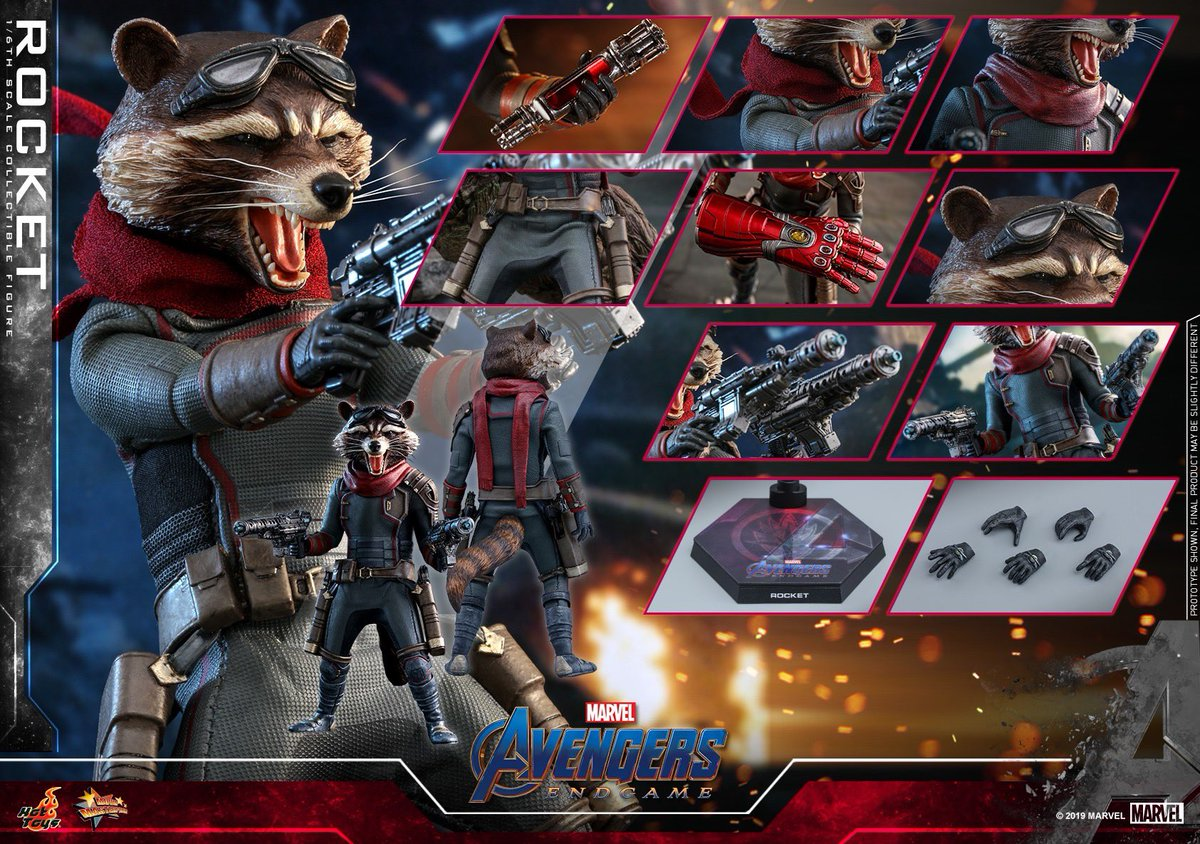 【Avengers: Endgame - 1/6th scale Rocket Collectible Figure】 #hottoys #ホットトイズ pic.twitter.com/ULpqlZRcfg