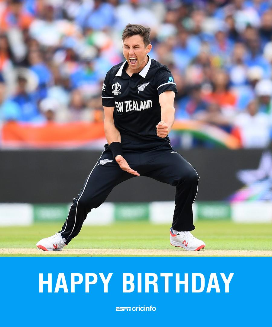 #OnThisDay Happy Birthday Trent Boult🎂🎂🎂  The New Zealand pacer turns 30 today  What's you favourite Trent Boult highlight from #CWC19? There were plenty to choose from