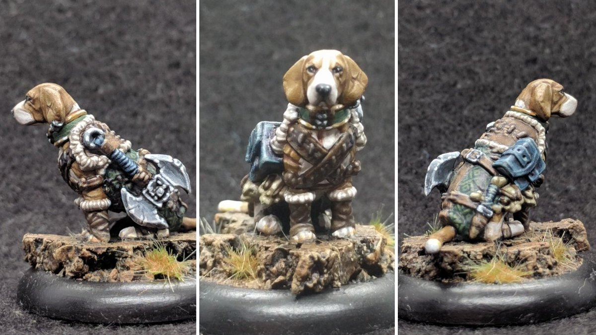 Kyrie the beagle barbarian #miniaturemonday #dungeonsanddoggies #DnD <br>http://pic.twitter.com/JK3ZEOyF6n