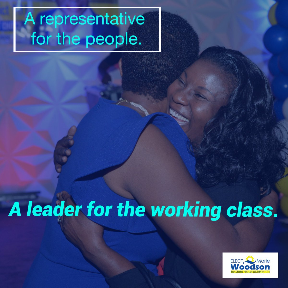 A leader for the working class!   #TeamWoodson #FLHD101