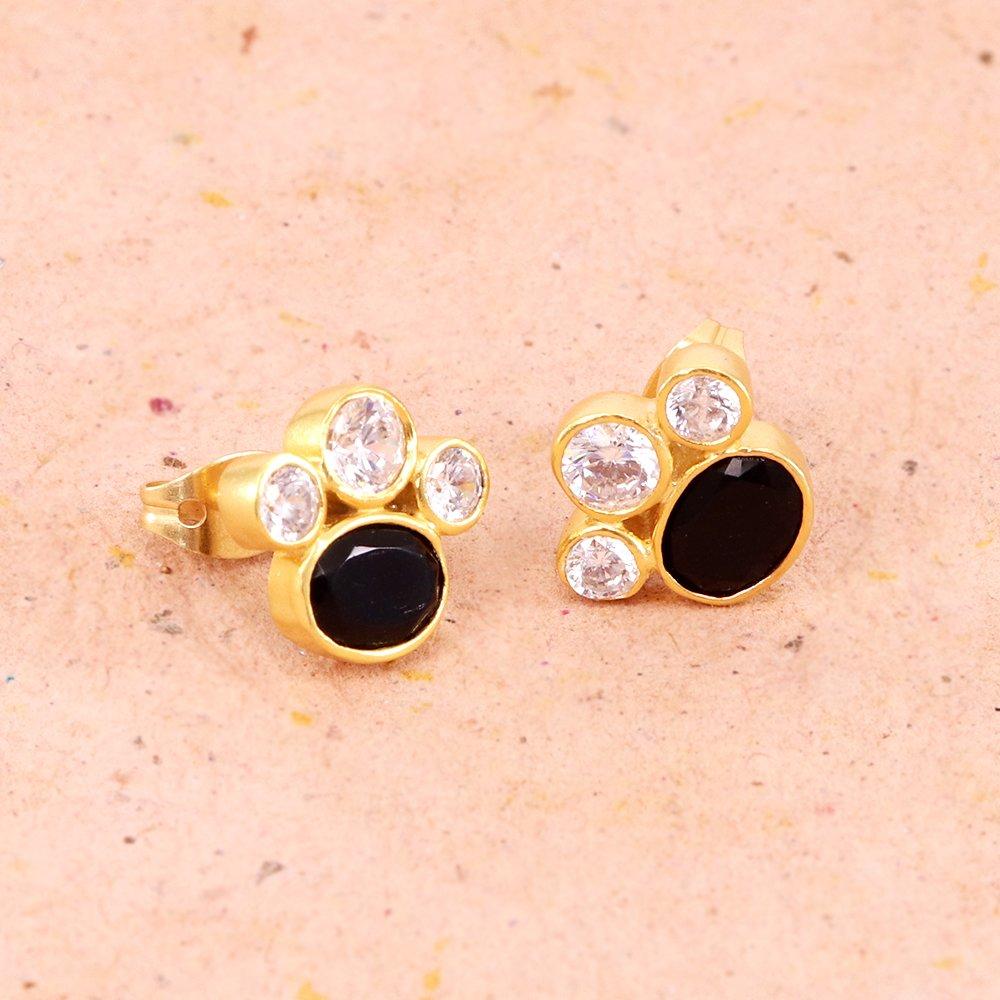 SHOP NOW  https://www.jewelum.com/jewelry/earring/black-stone-and-white-cubic-zirconia-18k-gold-plated-stud-earring-439.html…  Black Stone and White Cubic Zirconia Gold Plated Stud Earring  #ootd #instagood #model #smile #artist #friends #hair #photographer #sexy #photoshoot #lifestyle #MondayMotivation #MondayMorning #mondaythoughts #NikammaFirstLook #हर_हर_महादेव