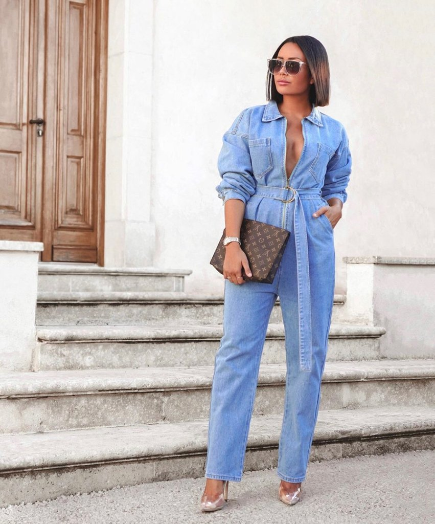 Image for DENIM daze 💙⁠ @kimstyleme steps out in the TEEGAN denim jumpsuit 💥😘 Shop: https://t.co/5y08kiUfWH ⚡ https://t.co/zV84jzeWHJ