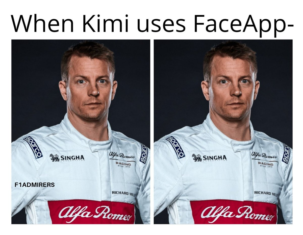 The Iceman doesn't age. -- #Sauber #Räikkönen #KimiRaikkonen #Bwoah #AntonioGiovinazzi #Vettel #Vettel5 #CharlesLeclerc #ValtteriBottas #VB77 #FerrariF1 #HaasF1Team #Grosjean #Magnussen #RSspirit #Hulkenberg #Ricciardo #ToroRosso #DaniilKvyat #F1 #Formel1 #Formule1 #Formula1