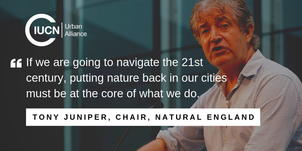 Today at the #NationalParkCity Summit, @TonyJuniper issues a rallying call for cities to become greener, healthier and wilder! @NaturalEngland