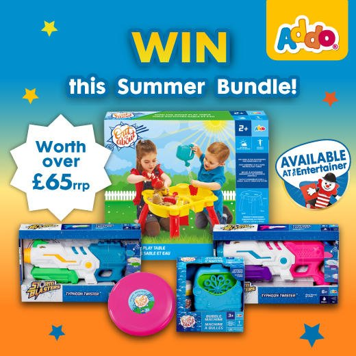 WIN  With the #UKHeatwave set to hit this week, we're giving away an awesome bundle of Addo toys worth £65+!! Want to win? Simply RT, enter your email:  https:// woobox.com/otteun      & follow @addoplay    Competition closes at 23:59 on Wednesday 24th July. Good luck  <br>http://pic.twitter.com/FqWSzxblAQ