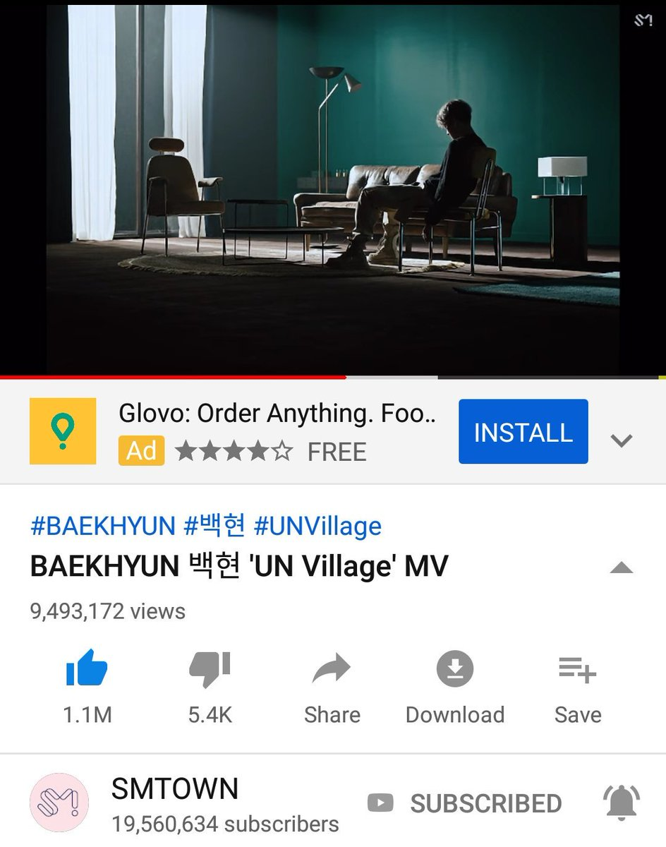 'UN Village' MV now has almost 9,5M views on YouTube!  Keep streaming, liking, commenting and sharing the link on your SNS.    https:// youtu.be/-EfjXQgE1e8      #백현 #BAEKHYUN @B_hundred_Hyun <br>http://pic.twitter.com/g70VHkHjak
