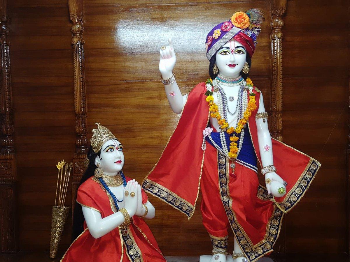 #Arjun #Krishna #deities(called as #Arjun #Varshney #Krishna) #Darshan,  #Iskcon #Aligarh #Gita #Gyan #Mandir, #Harduaganj. 22.7.19  Photography courtesy of Mannraj Prabhuji. #APNA #SAHAYOGI #PREMI #PARIVAR. #अपना #सहयोगी #प्रेमी #परिवार |