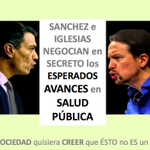 Image for the Tweet beginning: SANCHEZ e IGLESIAS NEGOCIAN en