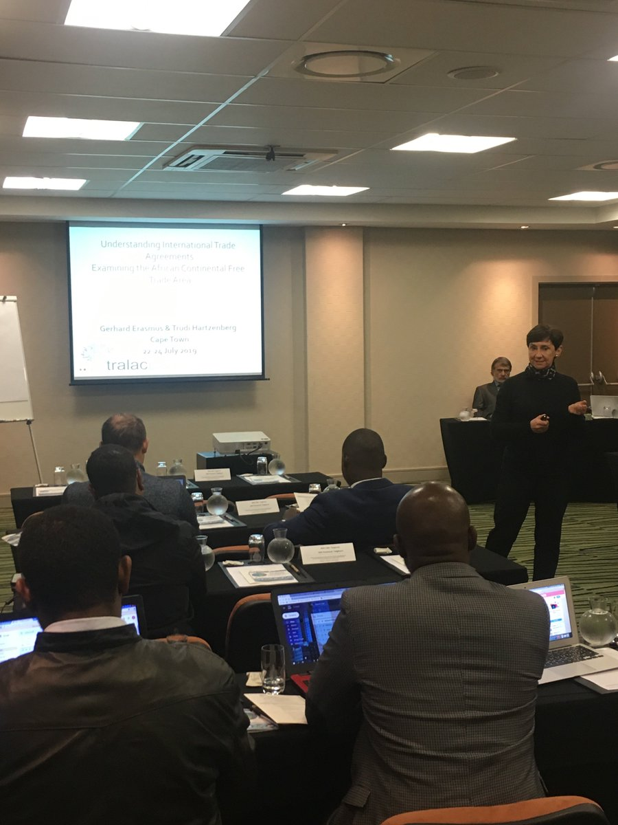 tralac's Executive Director, Trudi Hartzenberg giving introductory remarks. Day 1 of Short Course on Understanding International Trade Agreements Examining the #AfCFTA