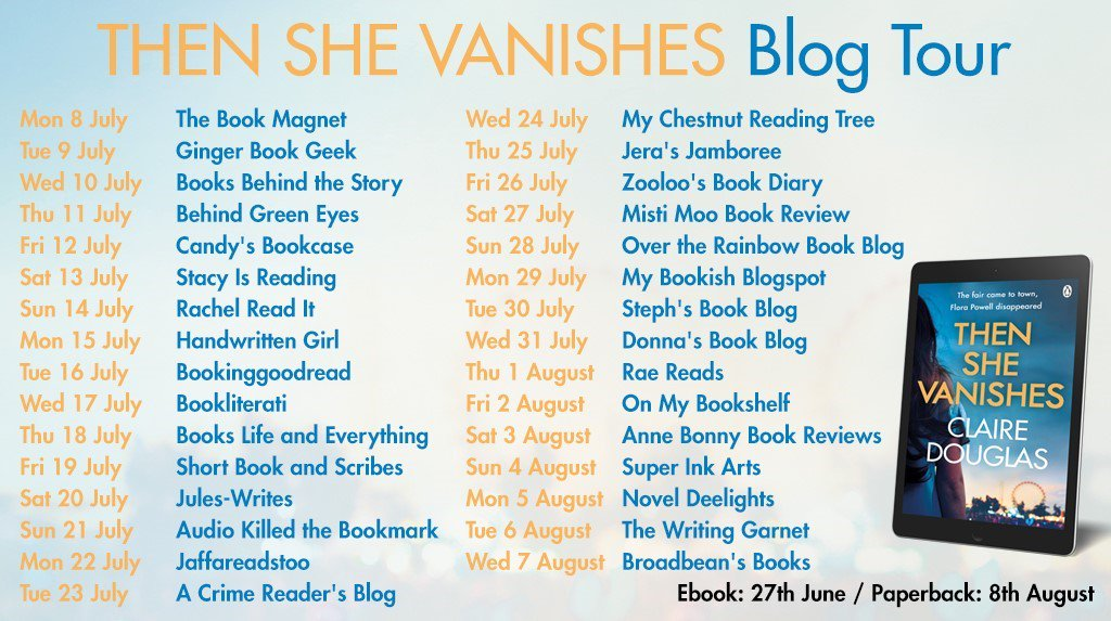 2423070fb900 ... by Claire Douglas @Dougieclaire @PenguinUKBooks @sriya__v  https://jaffareadstoo.blogspot.com/2019/07/blog-tour-and-then-she-vanishes-by.html  … ...