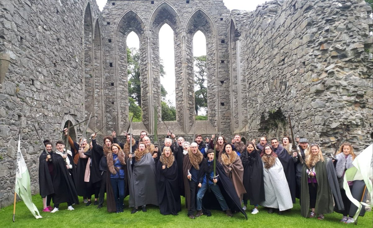 Andrew's Winterfell Tour July 21st. #GameofThrones #Trekking #Tour #Winterfell #HouseStark #thelongnight #thenorthremembers #TheLastWatch #AberdallStrongbeard #theWolfandtheCrows #NorthernIreland #theRealWesteros #GoTTerritory