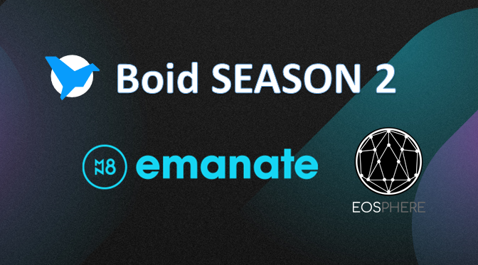 𝐁𝐨𝐢𝐝 𝐒𝐞𝐚𝐬𝐨𝐧 𝟐 has kicked off! Come and join the 𝐄𝐎𝐒𝐩𝐡𝐞𝐫𝐞 𝐁𝐨𝐢𝐝 𝐓𝐞𝐚𝐦 and win one of the Emanate $EMT prizes for top contributors.💫 Join Here -> https://app.boid.com/t/EOSphere  #EOSIO #cancerresearch @boidcom @EmanateOfficial