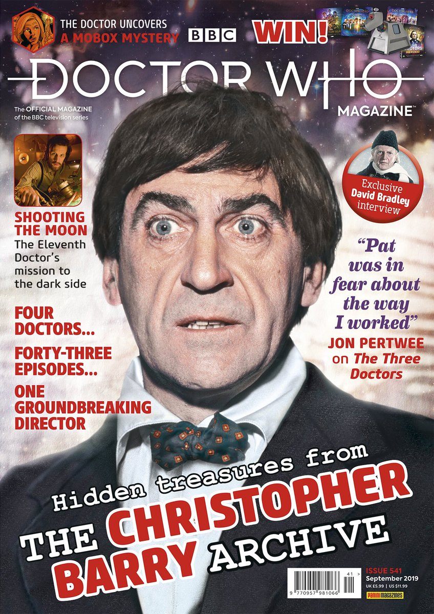 There's a new issue of DWM on sale this week, featuring hidden treasures from one of Doctor Who's greatest directors, Christopher Barry!  Issue 541 is out Thursday 25 July. #DrWho #DoctorWho #ChristopherBarry #archive #hiddentreasures