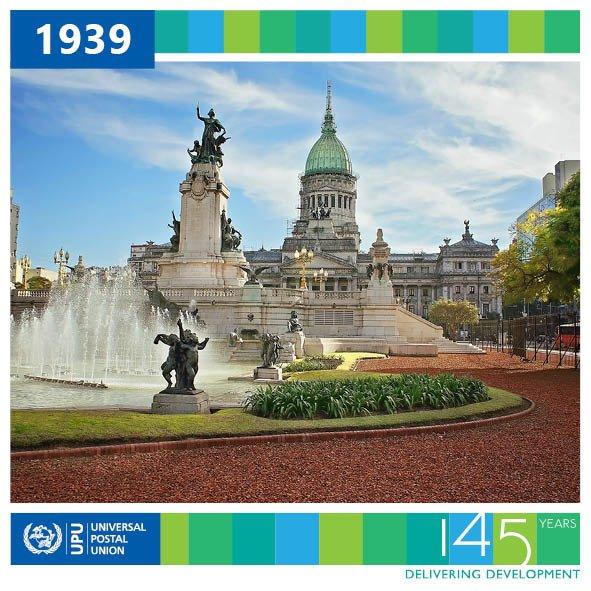 1939: 11th International #Postal Congress of #UPU_UN held in #BuenosAires. #Britain and #France declare war on #Germany #UPU145 @DeutschePostDHL @PostEurop @PostalMuseum @thepostalmuseum @GroupeLaPoste @letterappsoc @RoyalMail @RoyalMailStamps @CorreoOficialSA