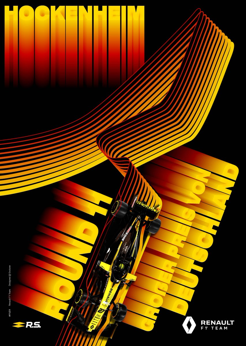 Renault S Poster For The German Grand Prix Formula1