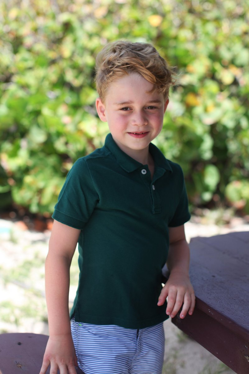 A very Happy Birthday to Prince George, who turns six today.   The Duke and Duchess of Cambridge have shared three new photographs of The Prince, taken by The Duchess.   Two of the photos were taken in the garden of their home at Kensington Palace and another whilst on holiday. <br>http://pic.twitter.com/BzoCokU8ND