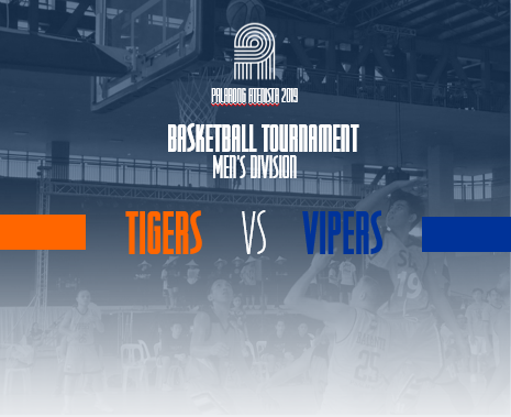 NH   SEA Tigers and BM Vipers are vying for the win in Basketball Men's Divison. #WinTheDream #PalarongAtenista2019