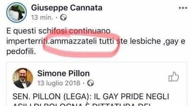 A #Vercelli Giuseppe Cannata di Fratelli d'Italia, vicepresidente del consiglio comunale, prima accomuna gay e lesbiche ai pedofili e poi chiede di ammazzarli tutti. Offendono fomentando odio e discriminazione. Sono senza vergogna
