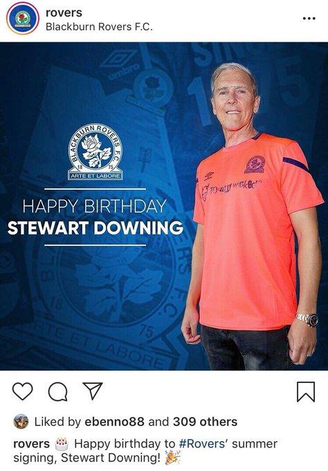 Happy birthday to, er veteran, midfielder Stewart Downing!