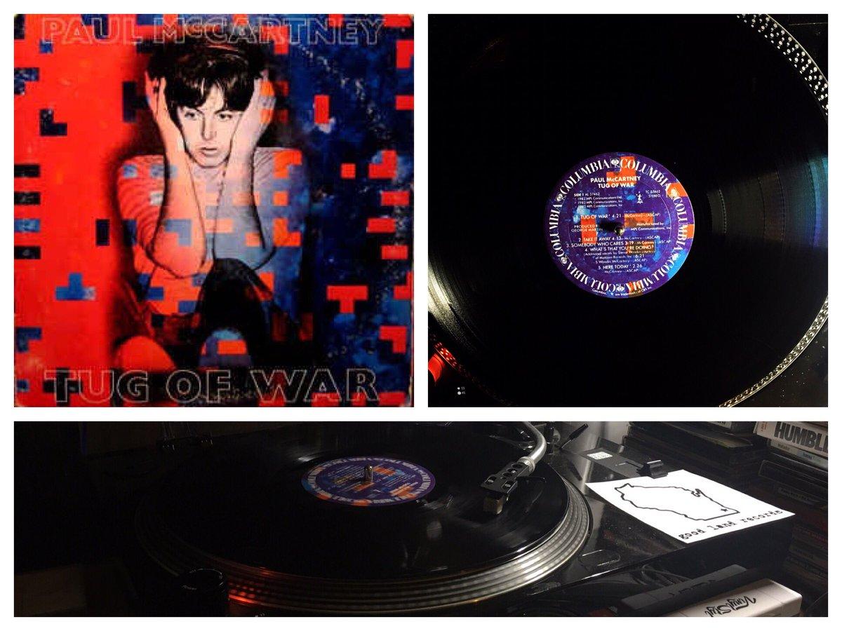 #records #vinyl #LP #album #vinylcollection #spinning #nowplaying #PaulMcCartney #TugOfWar #morningspin #musicisthebest