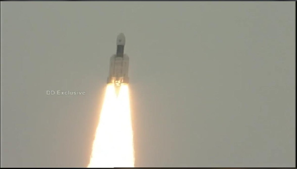 #ISRO #GSLVMkIII-M1 lifts-off from Sriharikota carrying #Chandrayaan2  Our updates will continue.