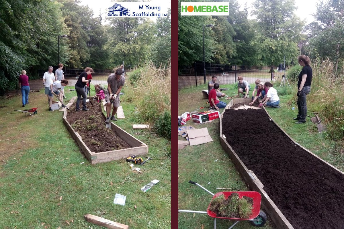 Massive thanks to PSA volunteers @twsallthrough who helped to create this great vegetable garden for the kids! Special thanks to @homebase_uk and M Young Scaffolding for showing amazing community spirit in supporting us! Inspired by @charlesdowding and @riverford #winchester https://t.co/WeynWNWRf8