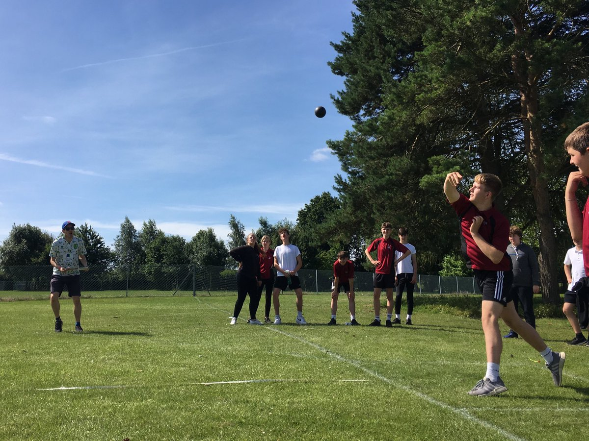 It's a fiercely competitive shot put! @MrMooreLSHS hasn't been this excited since Norwich went up. #Lshssportsday2019 #LshsExcellence