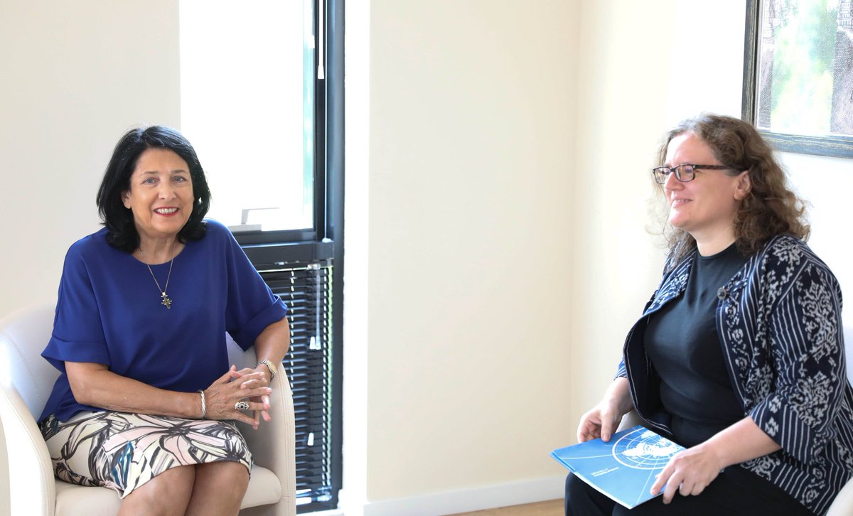First meeting today with Sabine Machl, the new @UN Resident Coordinator in #Georgia. UN Agencies have greatly helped Georgia in the past and I look forward to our future collaboration.  <br>http://pic.twitter.com/Vq5RK3sles