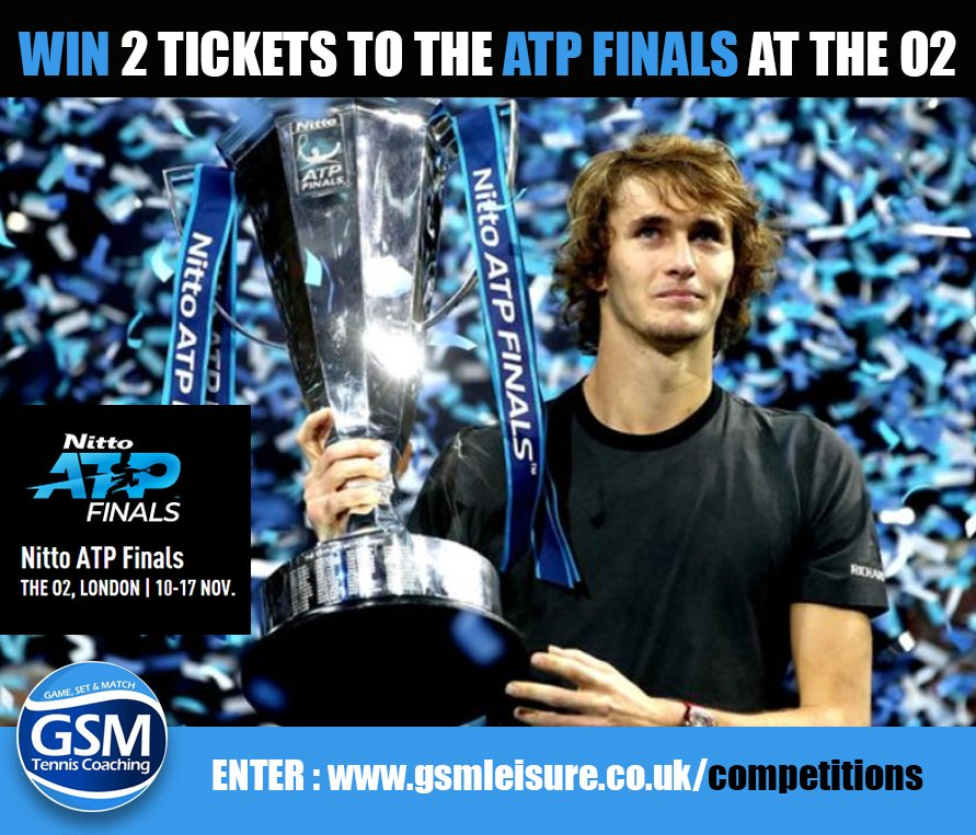 WIN A PAIR OF TICKETS TO THE O2 to watch the ATP Finals      GSM Leisure have got a pair of match tickets to give away to one lucky winner, to go to the ATP Finals at the O2 on 12th November for the Evening session #tennis #wimbledon #atpfinals  ENTER : http://bit.ly/WinATPtennis?utm_campaign=meetedgar&utm_medium=social&utm_source=meetedgar.com …