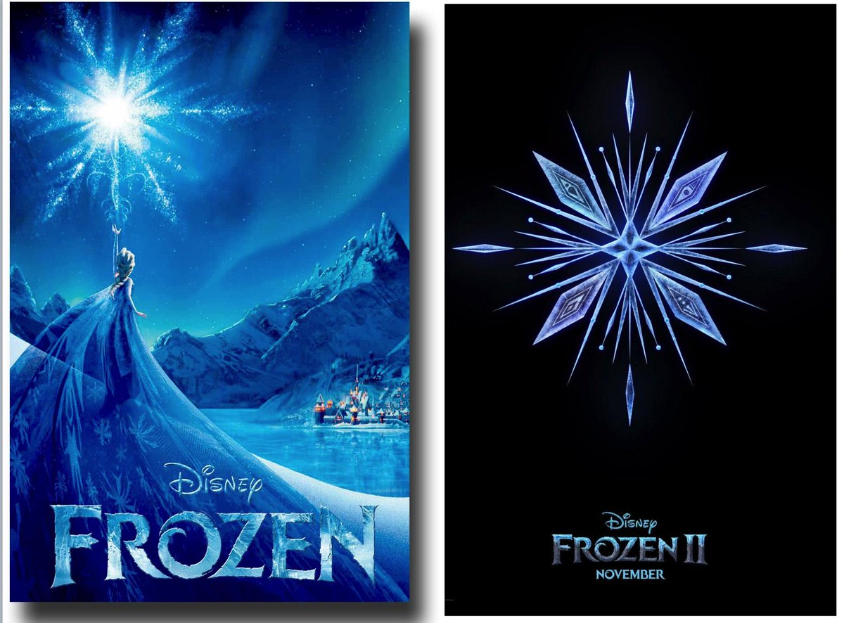 "Dear @Disney, You got it right the first time. Water crystals have hexagonal ""six-fold"" symmetry.  You still have a few months to fix your #Frozen2 Movie Poster, unless the sequel takes place in another universe, where water crystalizes to different laws of physics."