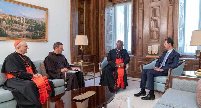 Επιστολή του Πάπα Φραγκίσκου μετέφερε στον Πρόεδρο Άσαντ εκπρόσωπος του.
