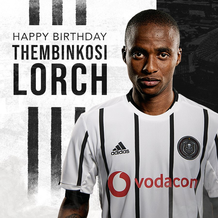"""☠ Wishing our #3 Thembinkosi """"Nyoso"""" Lorch a very Happy 26th Birthday today! We hope you have a great day 🎉🎉🎉 🎂🎂🎂 ⚫⚪🔴⭐ #OnceAlways https://t.co/byVqJcSrcJ"""