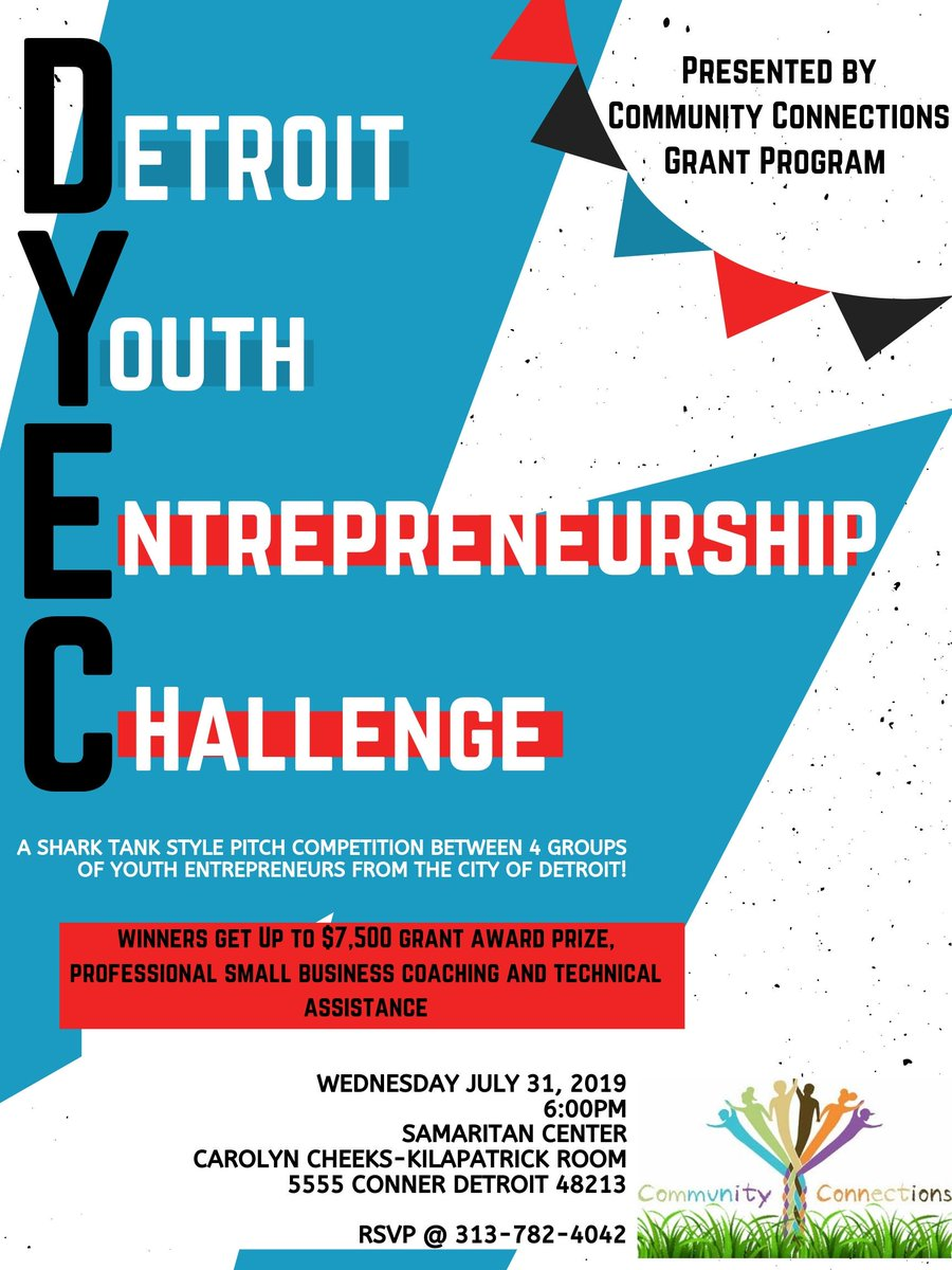 Coming July 31! Baby sharks! (A shark tank like pitch competition by 4 youth entrepreneur groups in the City of Detroit) Public welcome. #Detroit #entrepreneurship #youth