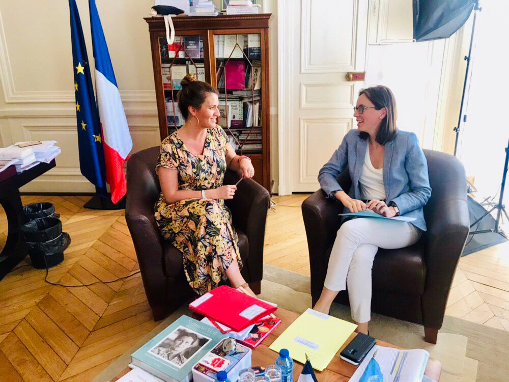 Ratification de la Convention d'Istanbul et application en France, Pacte Simone Veil, protection de l'IVG en Europe, congés parentaux... avec @AdeMontchalin pour travailler sur les droits des femmes en 🇪🇺