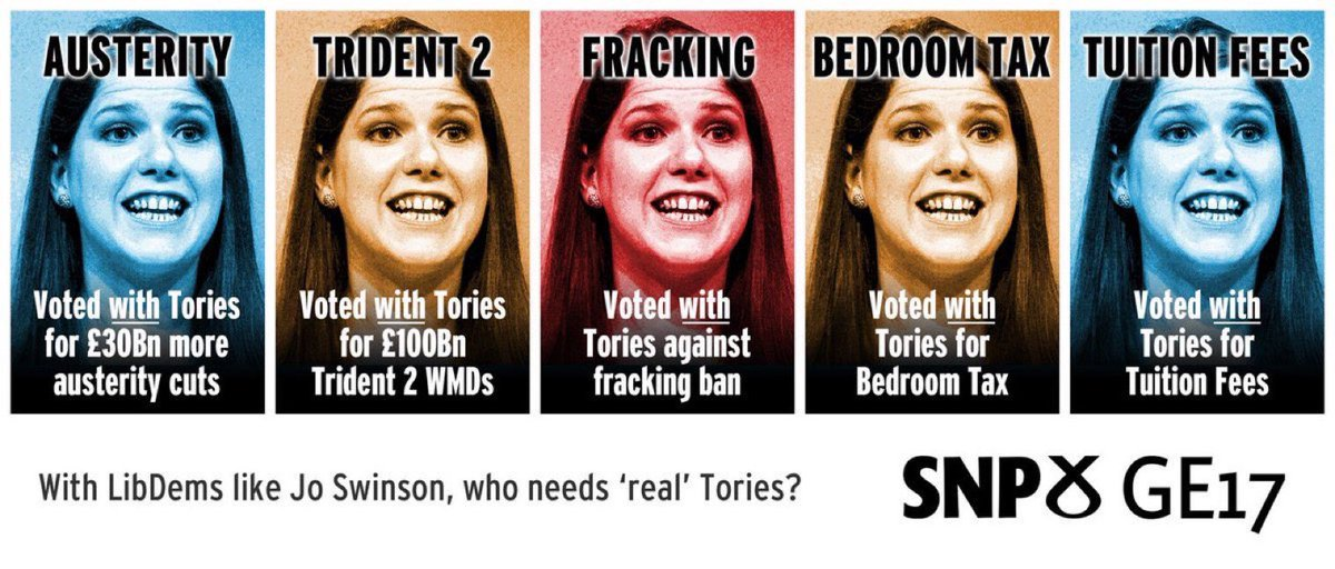 Ms Swinson has said that in the event of a hung Parliament she will not allow Liberals to form a coalition with  Corbyn's Labour Party ,the SNP or Plaid. This leaves Tories, Brexit Party and DUP, Ms Swinson is according to herself and the media a 'Centrist' <br>http://pic.twitter.com/Rvvzb0QZVT