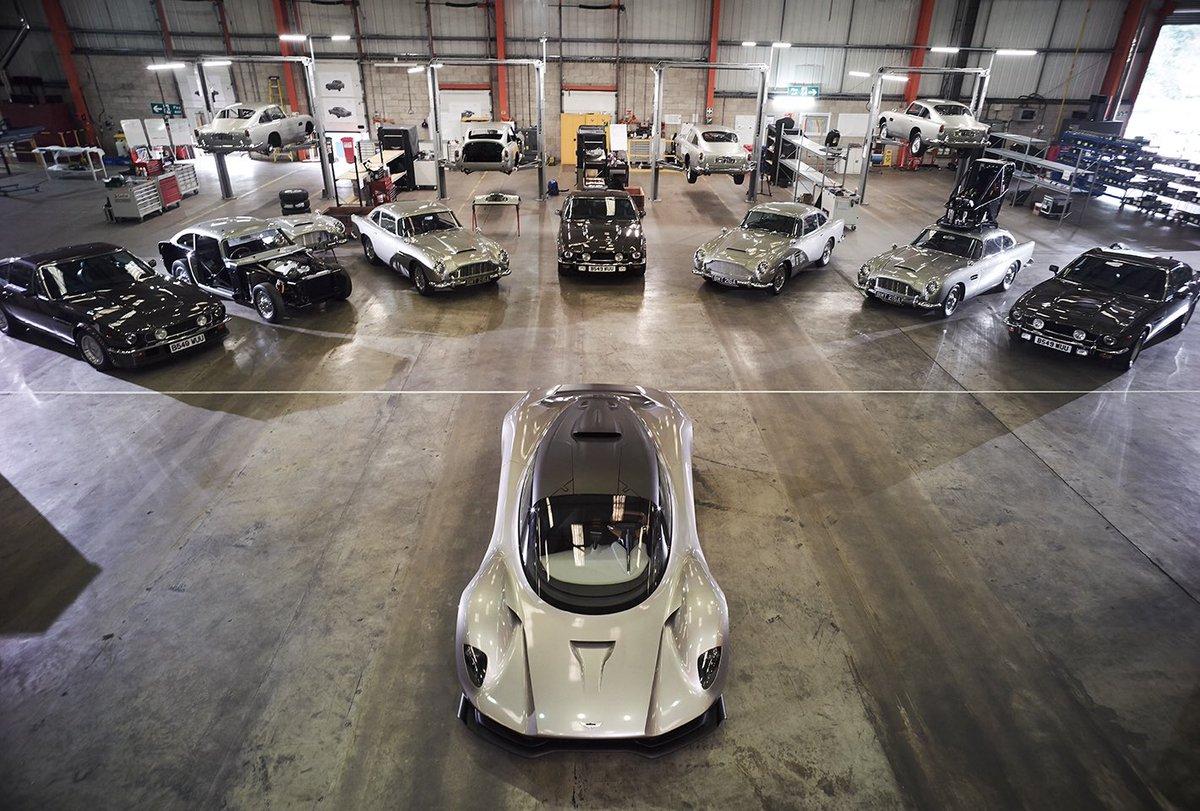 Here's a sneak peek behind the scenes of the @astonmartin workshop for #Bond25 #DB5 #V8Vantage #AstonMartinValhalla @GregWInsight
