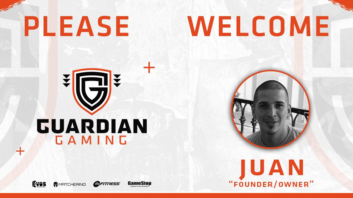 We'd like to introduce our Owner/Founder @GG_JUANR!  He's helping bring Guardian Gaming to life!  #GG<br>http://pic.twitter.com/reOSDHiQsp