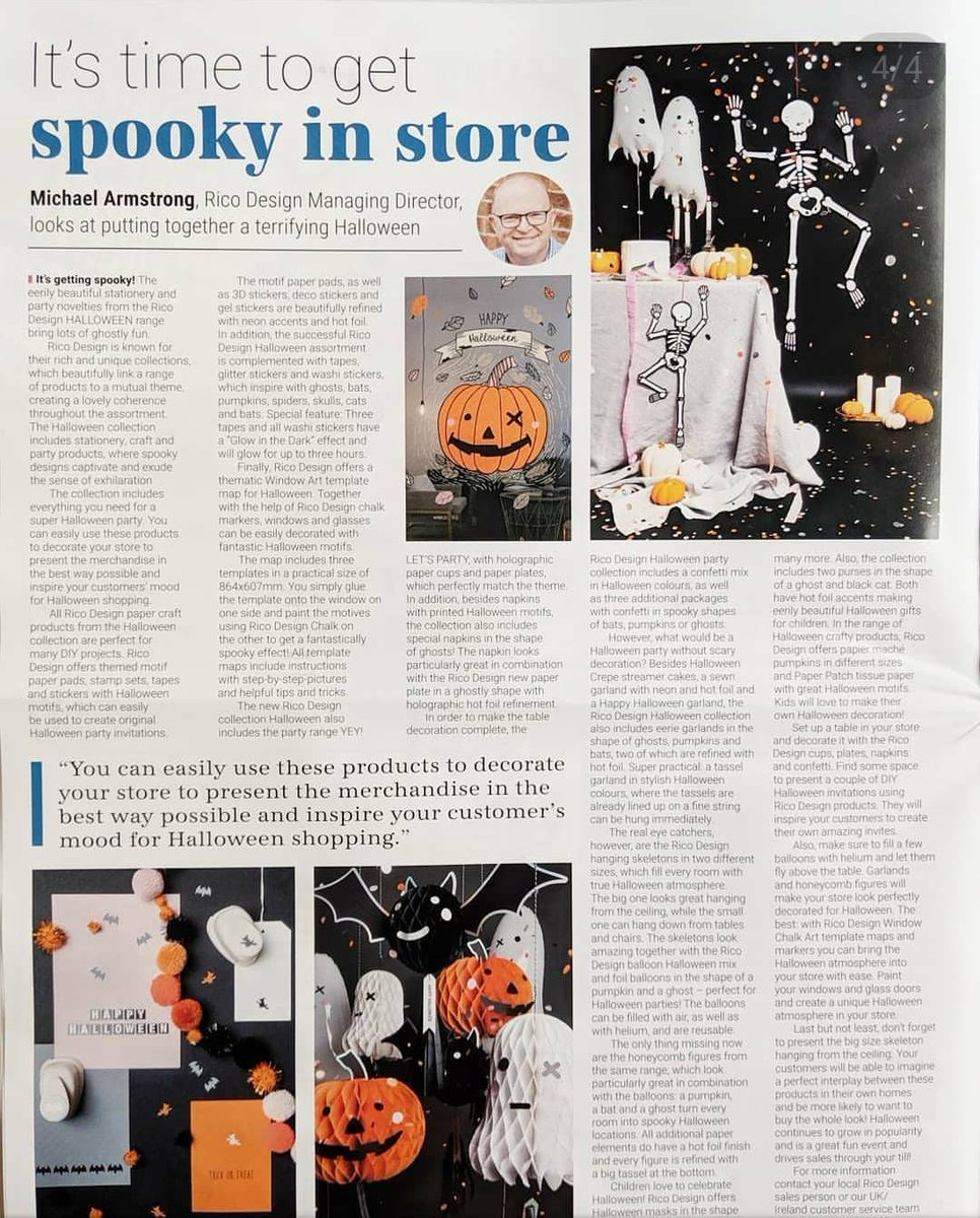 Our August issue features #Halloween treats 🎃 and a sneak peek into #Christmas 🎄🎅 (it's never too early, right?) https://buff.ly/2k1pbGJ   #craftbiz #FreeDownload