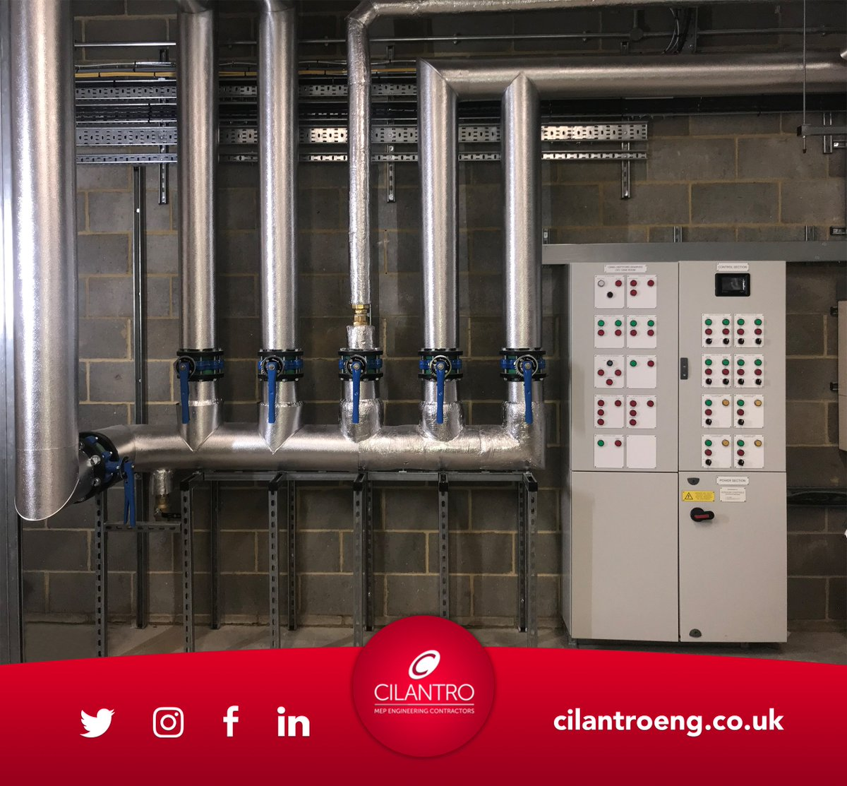 Work in progress: Deptford Timberyard project.  Boosted Cold Water Pipes within tank room and the BMS Panel installed by Cilantro at Deptford. Great work team!  #plumbing #accreditation #mepdesign #electrical #mechanical #workinprogress #installed #cilantroengineering #deptford
