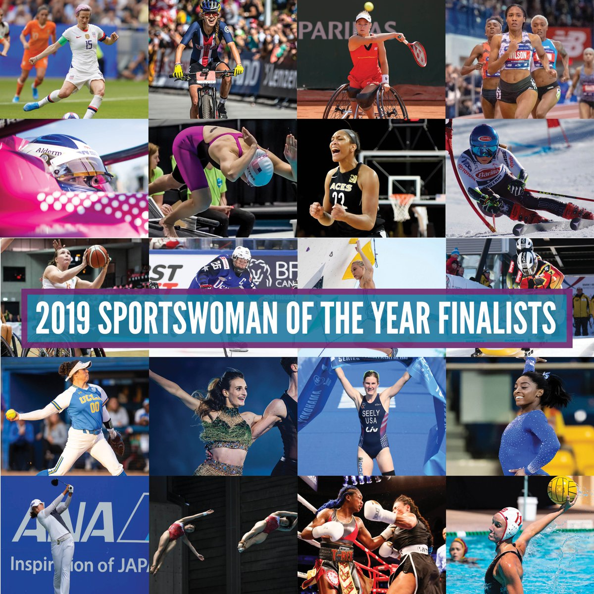 It's time! 🕑  Voting for the 2019 Sportswoman of the Year Awards is live NOW! Help your favorite athletes take home the honor at the 40th Annual Salute to Women in Sports! #SOY2019  Cast your ballot ✅ http://sportswomanoftheyear.com/