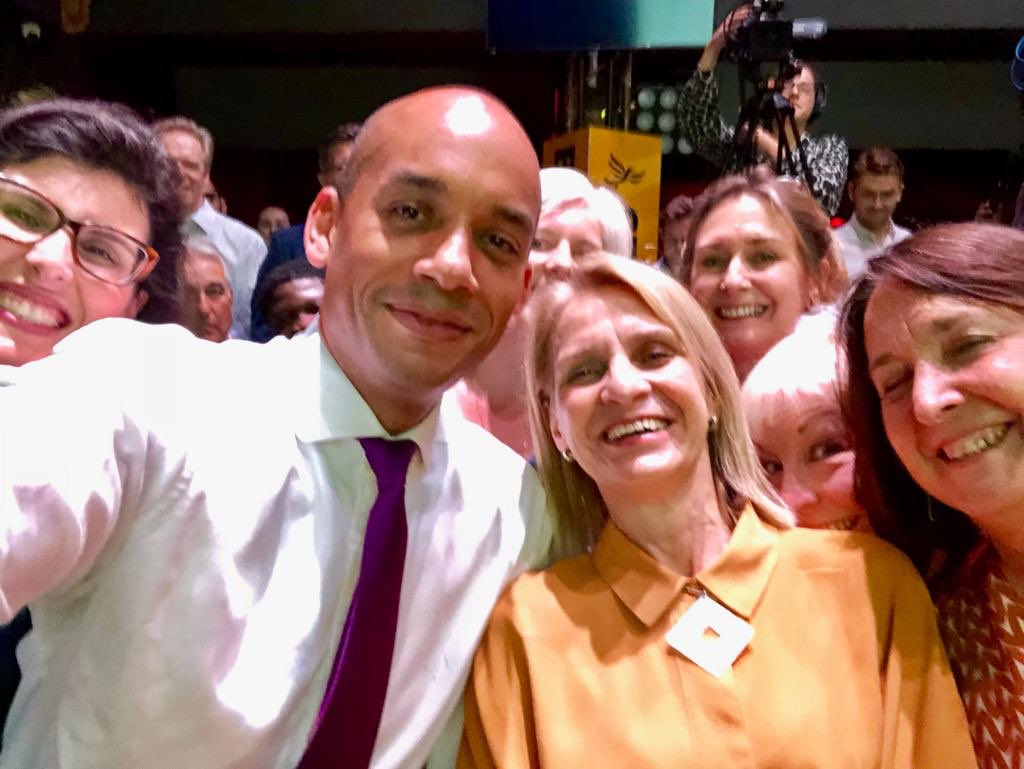 Joined @LaylaMoran, @Wera_Hobhouse and @cajardineMP at the @LibDems leadership announcement.   Jo Swinson commands 100% support from Lib Dem parliamentarians and leads a united party committed to stopping Brexit! #DemandBetter #StopBrexit<br>http://pic.twitter.com/ha79sdpuef