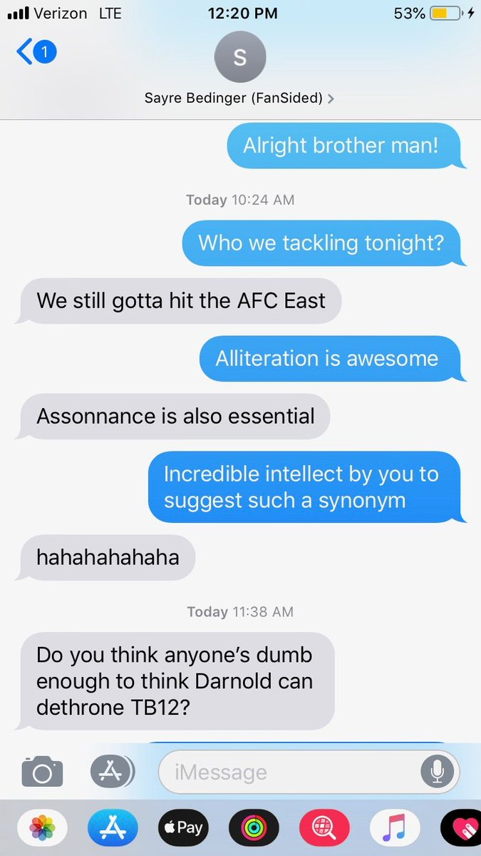 @Brooks_AustinFS and I are ready to talk #Jets #Patriots #Bills and #Dolphins on the AFC East preview @NFLMocks Podcast. We're all about the alliteration jokes apparently...