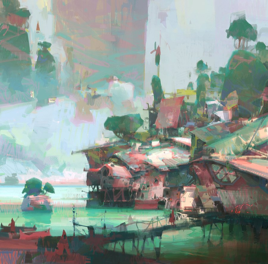 The amazing fantasy landscapes of Theo Prins :  http://www. theoprins.com /    <br>http://pic.twitter.com/YDDBlilAHs