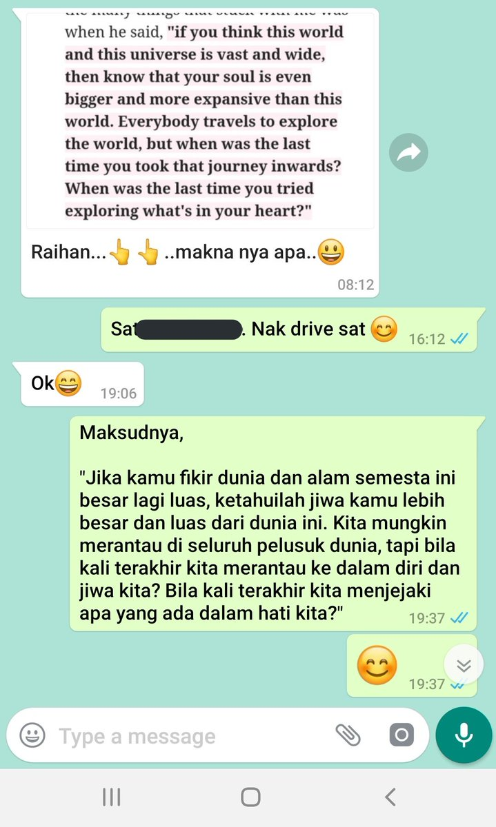 Thank you @aidaazlin_ for the lovely letter, jazakillahu khair    I shared this on whatsapp and my colleague asked me to translate it. Haha that's not the best translation but I guess she understood the message behind the reminder  <br>http://pic.twitter.com/My4TUFbADw