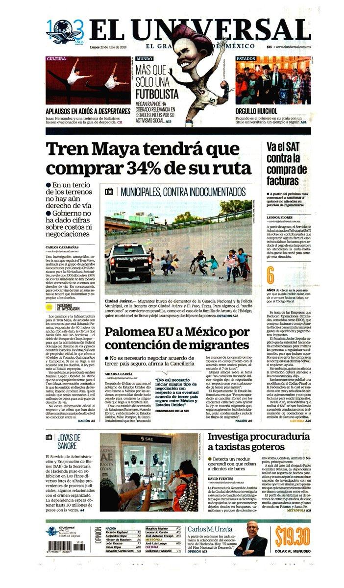 #Las8Columnas #ElUniversal: Tren Maya tendrá que comprar 34% de su ruta