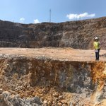 Southern end of the Arzu South pit - vein zone in foreground #AAU #gold #mine https://t.co/9rfG2W0k1D