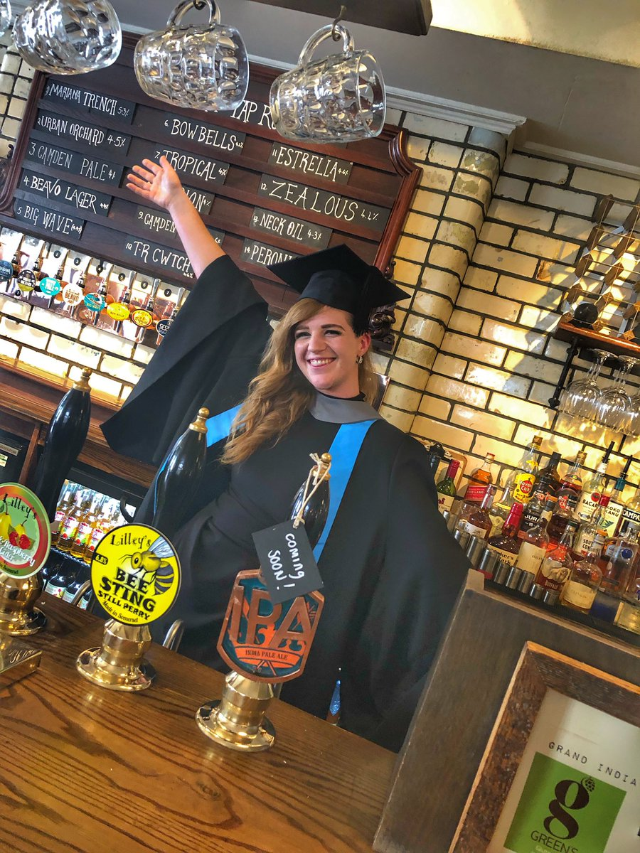 Congratulations to our very own, first class graduate Bianca!! Now to celebrate! @inkingstonuk @kingstonuniversity #kingston #riverside #celebrate #prosecco #graduationcap #drinklocal #craftbeerjunkie #beerme #craftbeercommunity #craftbeerporn #brewday #beerlover  #thisislondon