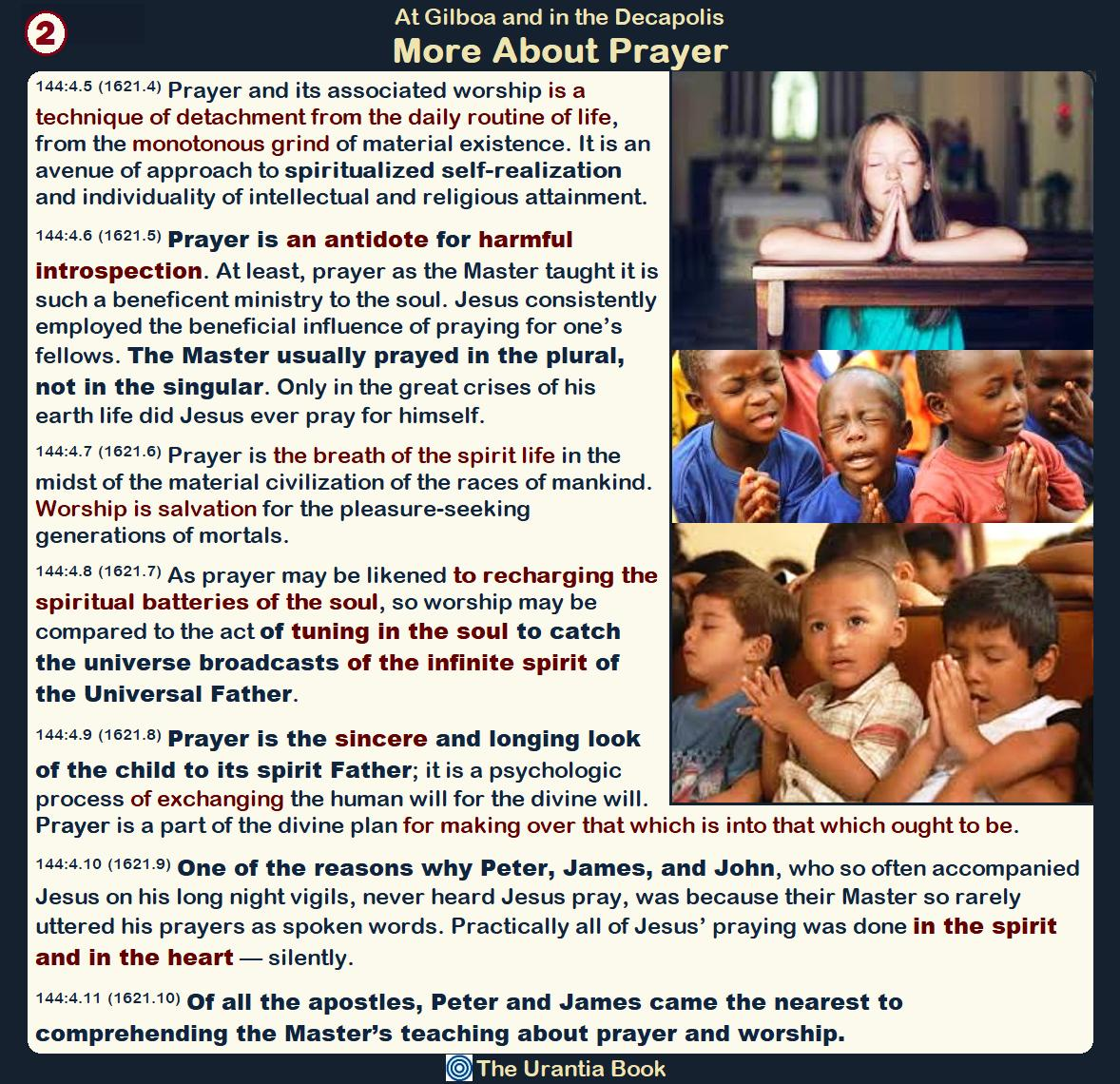"""More About #Prayer """"Prayer and its associated #worship is a technique of detachment from the daily routine of #life, from the monotonous grind of material existence.  It is an avenue of approach to spiritualized self-realization and individuality of #intellectual... #JesusChrist"""