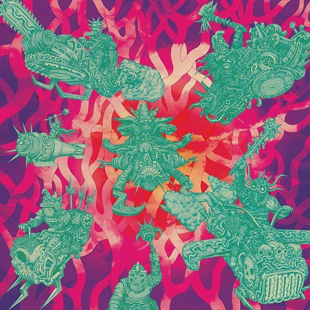 Work from @willsweeneyuk for last year's Rick & Morty soundtrack LP, released on @subpop.⠀ ⠀ #bigactiveartists #willsweeney #rickandmorty #soundtrack #vinyl #lp #subpop #subpoprecords https://ift.tt/2JYgrK2